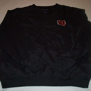 Port Authority Bengals Black Pullover XL